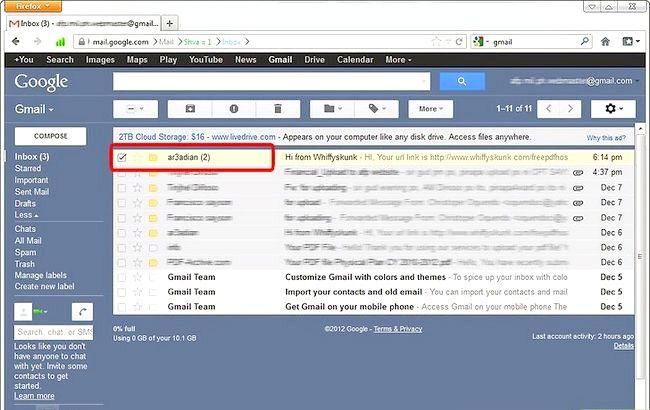 Imaginea intitulată Blochează expeditorii în Gmail Pasul 1