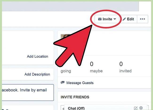 Imagine intitulată Invitați toți prietenii pe Facebook Pasul 2