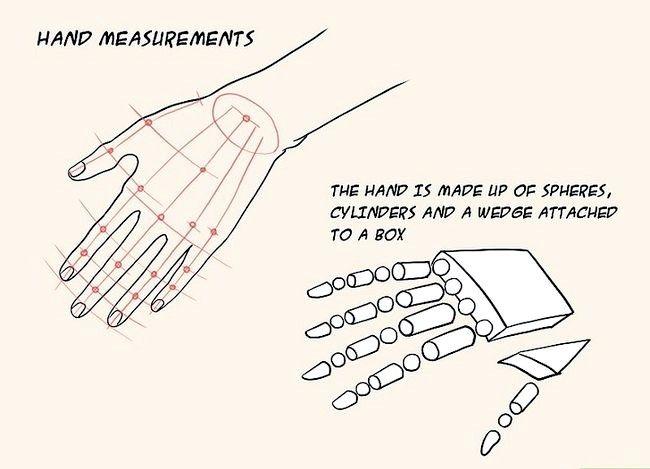 Imagine cu titlul Draw Anime Hands Pasul 1