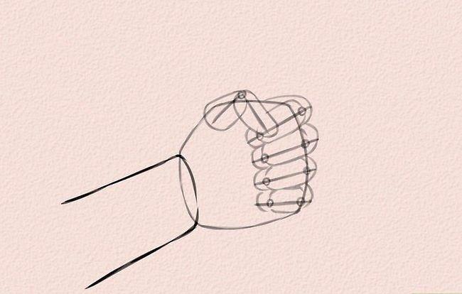 Imagine cu titlul Draw Anime Hands Pasul 4