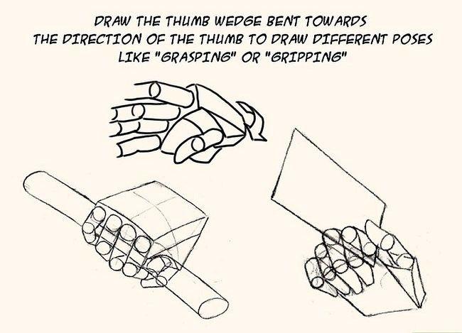 Imagine cu titlul Desenează anime mâini Pasul 8