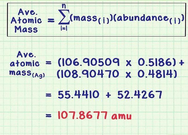 Imagine intitulată Găsiți masa medie atomică pas 5