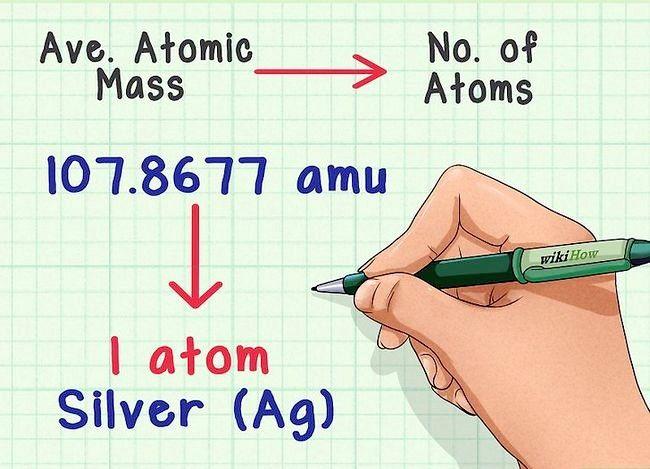 Imaginea intitulată Găsiți masa medie atomică pas 6
