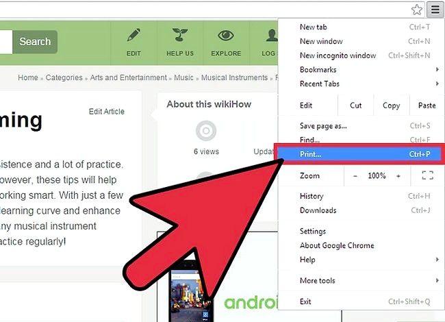 Imaginea intitulată Salvați o pagină Web ca PDF în Google Chrome Pasul 3
