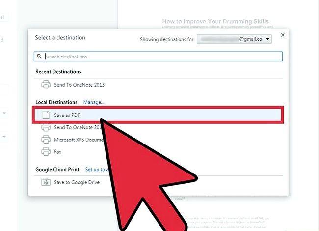 Imaginea intitulată Salvați o pagină Web ca PDF în Google Chrome Pasul 5