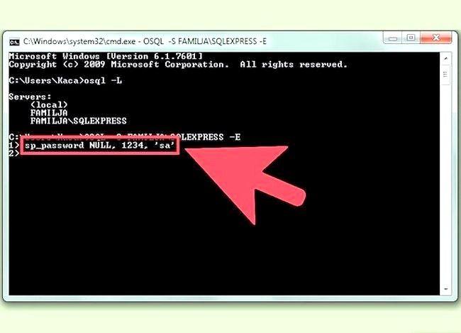 Imaginea intitulată Resetați parola SA în serverul Sql Step 3