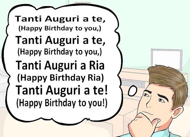 Imaginea intitulată Spuneți ziua de naștere fericită în italiană Pasul 9
