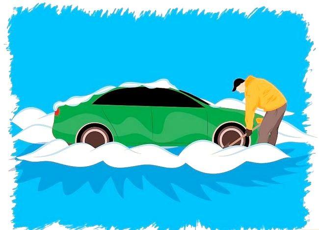 Imaginea intitulată Ia-ți mașina din pasul 2 de zăpadă