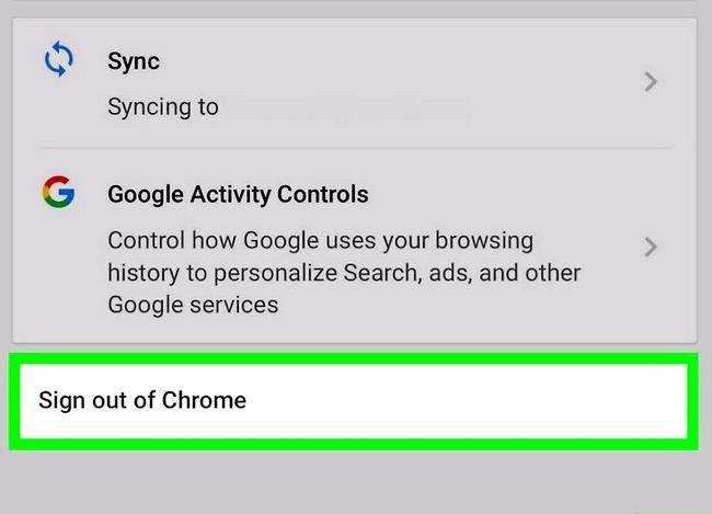 Imagine intitulată Deconectați-vă din Google Chrome Pasul 10