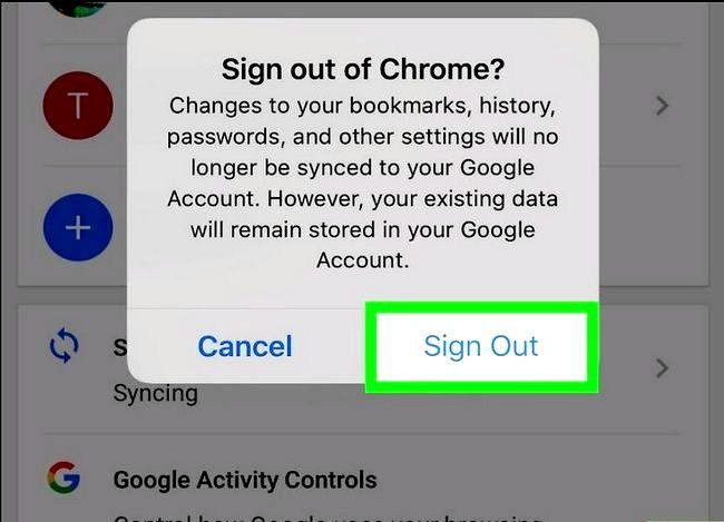 Imaginea intitulată Sign Out of Google Chrome Pasul 11
