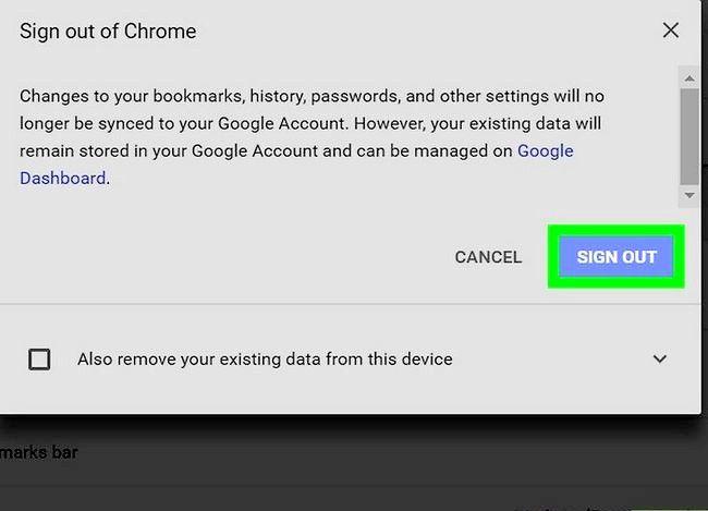 Imaginea intitulată Sign Out of Google Chrome Pasul 5