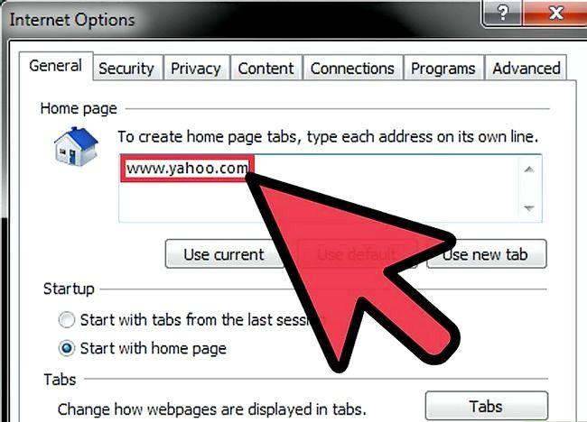 Imaginea intitulată Make the Yahoo! Pagina dvs. de Internet Internet Explorer Pasul 4