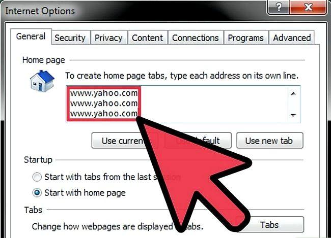 Imaginea intitulată Make the Yahoo! Pagina principală Internet Explorer Pasul 5