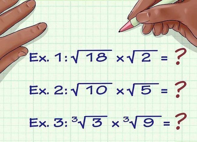 Multiplicați numerele rădăcinilor