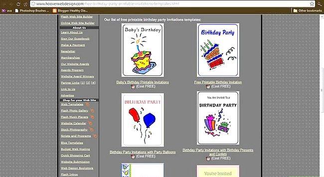 Faceți-vă propriile invitații de ziua de naștere
