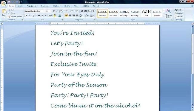 Imagine intitulată BirthdayInvitation Pasul 3