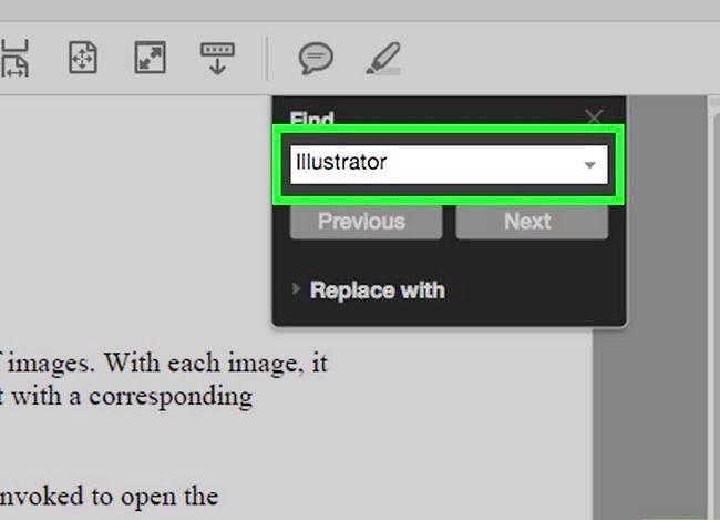 Imaginea intitulată Căutați un cuvânt sau o expresie într-un document PDF Pasul 4