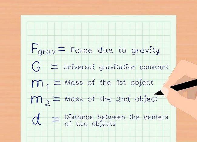 Imaginea intitulată Calculați Forța de Gravitate Pasul 1
